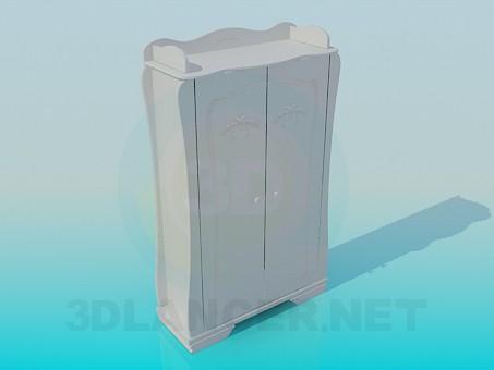 3d модель Шкаф в детскую спальню – превью
