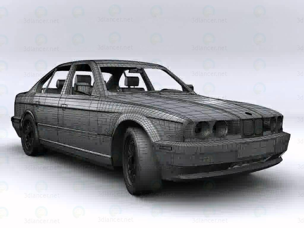 3d modeling BMW E34 535 model free download