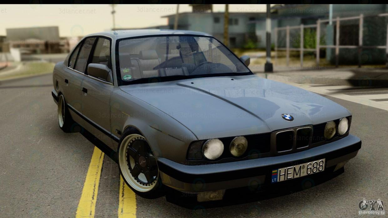 3d модель BMW E34 535 – превью