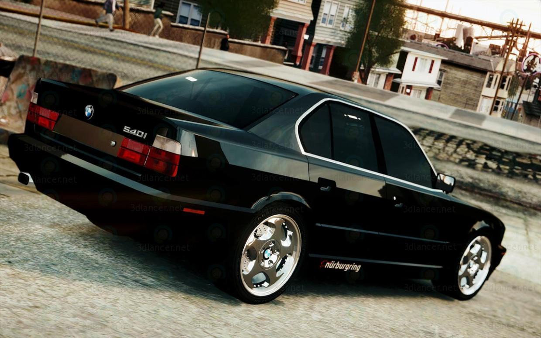 3d model BMW E34 535 - preview