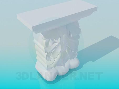3d моделирование Элемент карниза модель скачать бесплатно