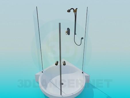 modelo 3D Ducha transparente - escuchar