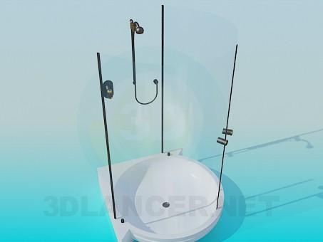 3d модель Прозрачная душевая кабинка – превью