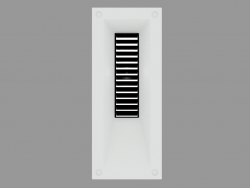 Recessed wall light LINK VERTICAL WITH GRID (S4680)