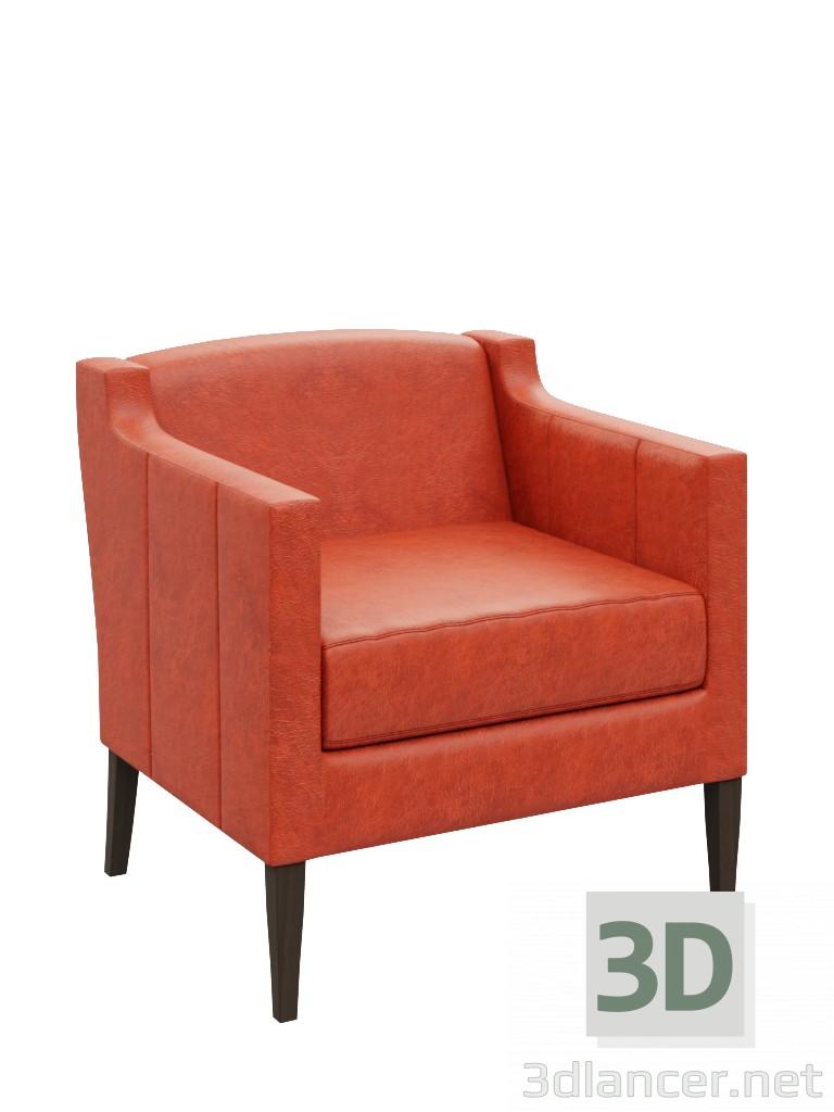 3d Помаранчевий стілець модель купити - зображення