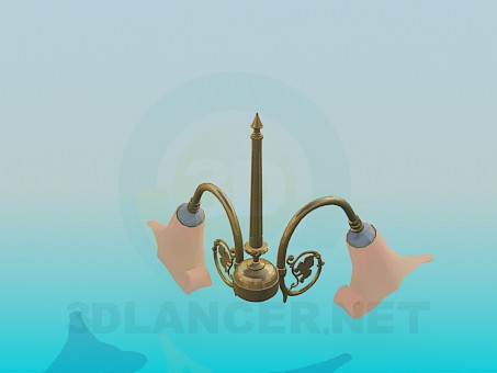 3d model Two ceiling chandelier - preview