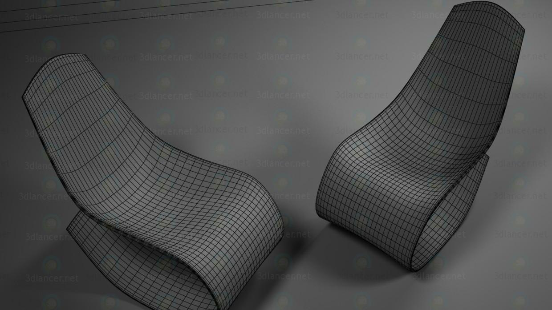 3d кресло-качалка модель купить - ракурс