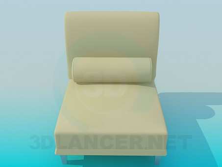 3d model Couch with a pillow - preview