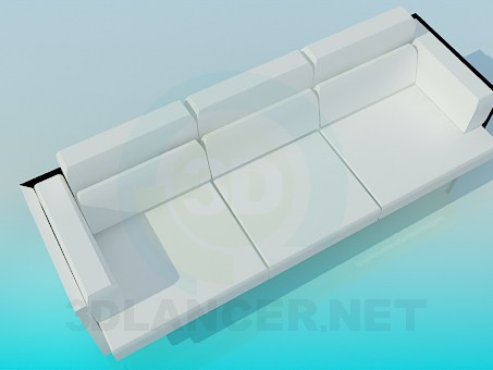 3d модель Белоснежный диван – превью