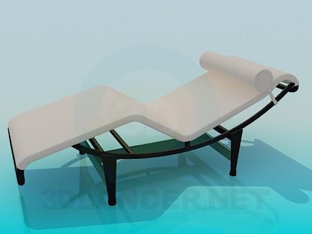 descarga gratuita de 3D modelado modelo Tumbona con reposacabezas