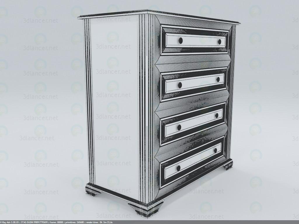 Cajonera NightKOM4S90 3D modelo Compro - render
