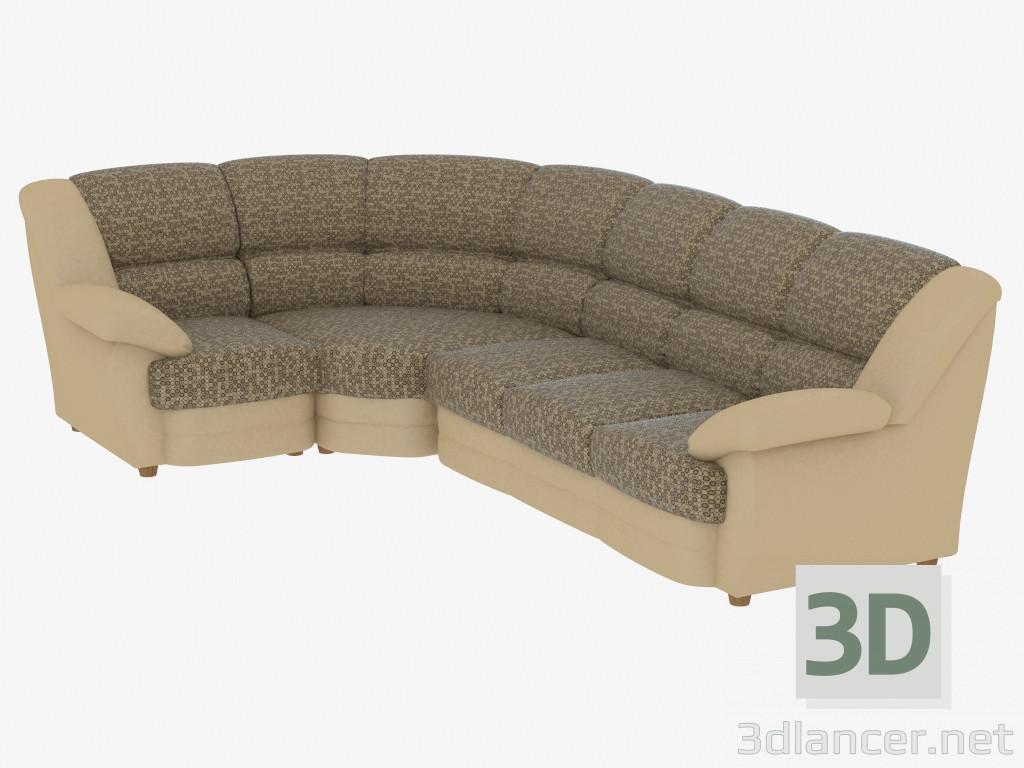 Modelo 3d sof cama de esquina del fabricante pushe id 19318 - Sofa cama esquina ...