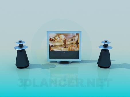 descarga gratuita de 3D modelado modelo Cine en casa