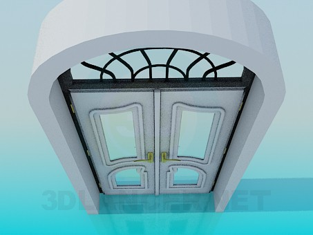 3d model Front double door - preview