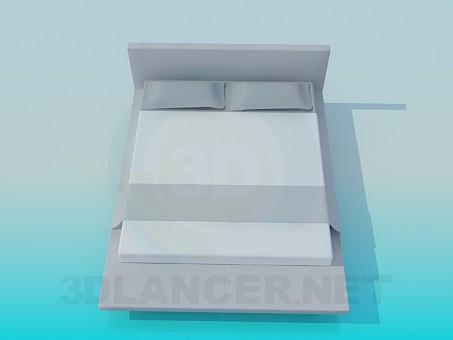 3d модель Ліжко – превью