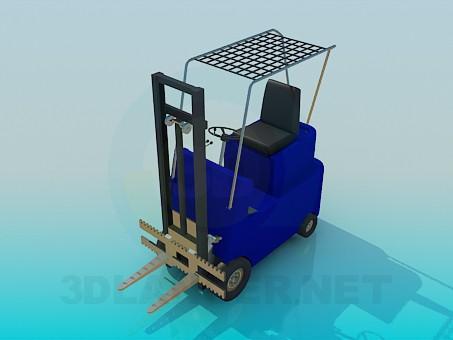 3d модель Машинка-подъемник – превью
