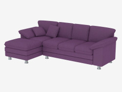 Corner sofa bed for three persons