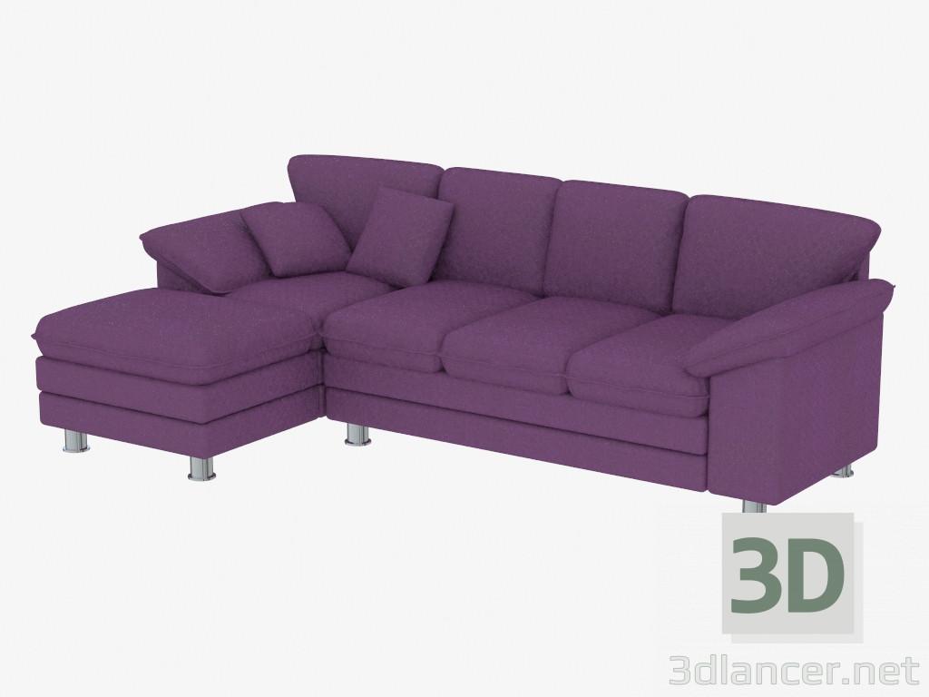 Modelo 3d sof cama de esquina para tres personas del fabricante pushe id 19319 - Sofa cama esquina ...
