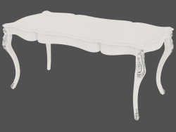 Dining table with carved legs