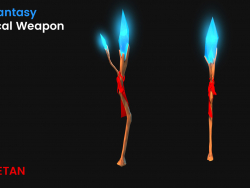 3D Fantasy Magical weapon - Game Asset