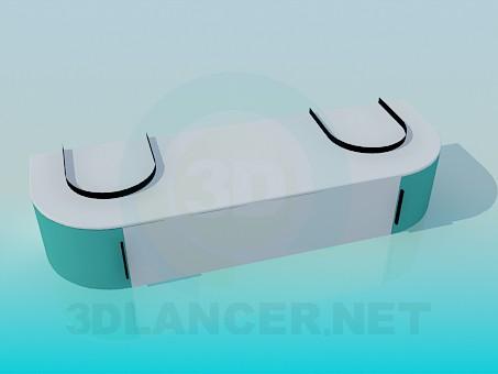 3d модель Тумбочка для санузла – превью