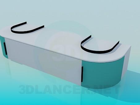 modelo 3D Mesita de noche para un cuarto de baño - escuchar