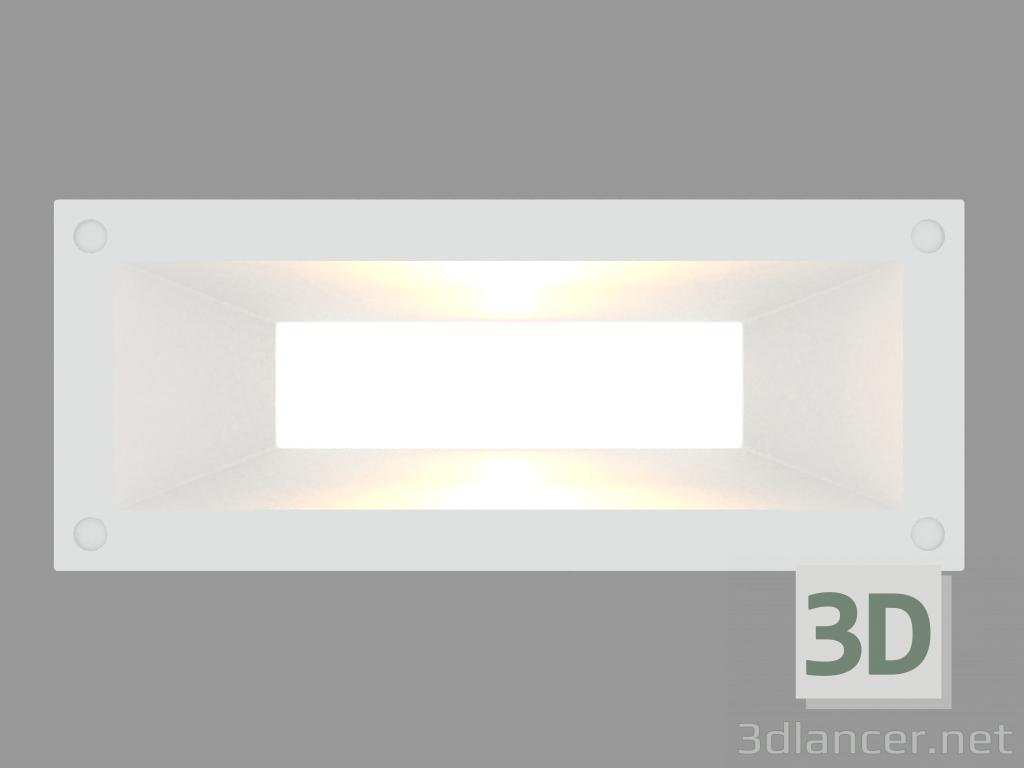 3 डी मॉडल Recessed दीवार प्रकाश लिंक HORIZONTAL (S4685) - पूर्वावलोकन