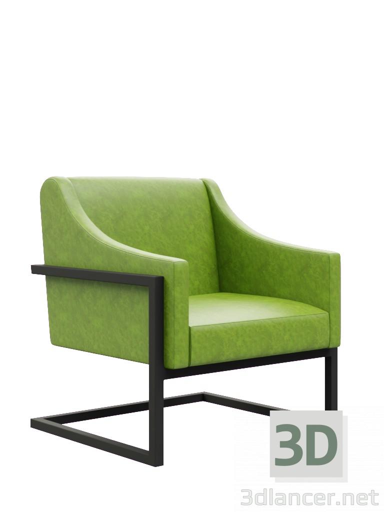 3D Modell Grüner Stuhl Steht In Folgenden Formaten Zum