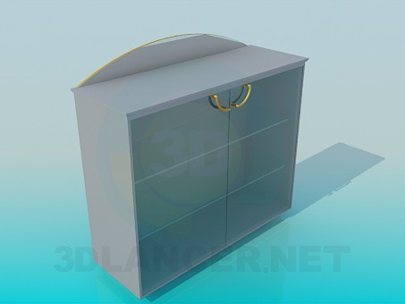 3d модель Подставка со стеклянными дверками – превью