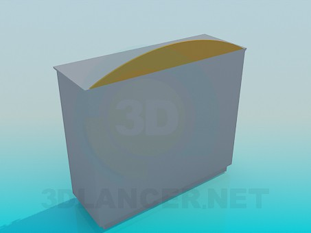 3d модель Підставка зі скляними дверцятами – превью