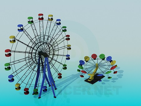 3d model Attractions - preview