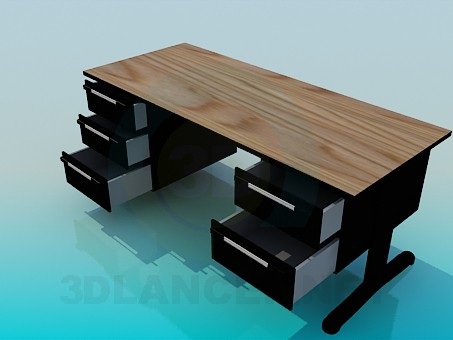 3d модель Письмовий стіл – превью
