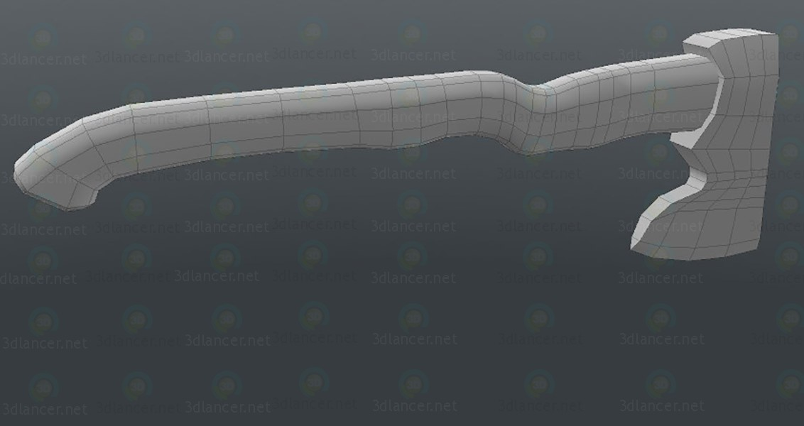3d model Lowpoly Axe - preview