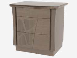 Bedside table with 3 drawers on the base of CDMONZ