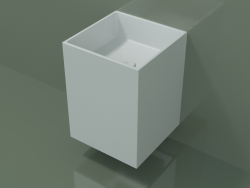 Wall-mounted washbasin (02UN13101, Glacier White C01, L 36, P 36, H 48 cm)