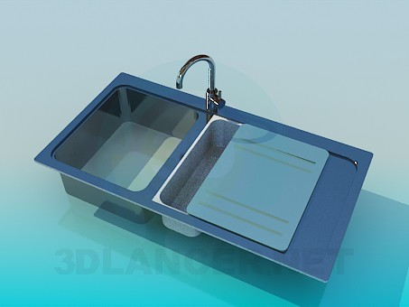 3d modeling Kitchen sink model free download