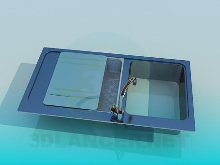 3d model Kitchen sink - preview