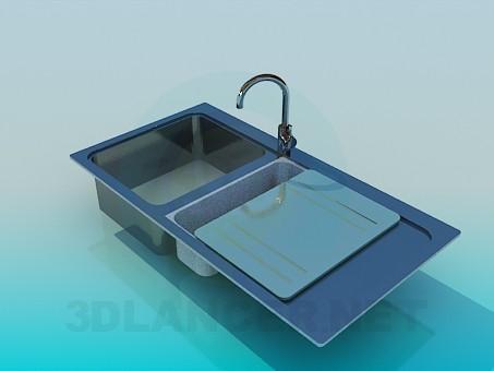 3d модель Кухонная мойка – превью