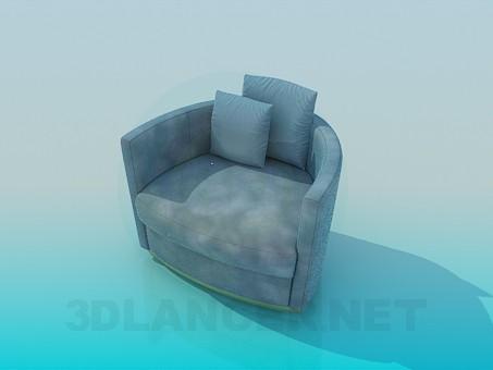 3d модель Кресло с подушками – превью