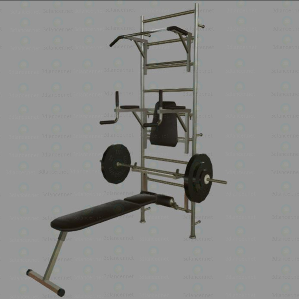 Gym Props paid 3d model by Vyacheslav Starkov preview