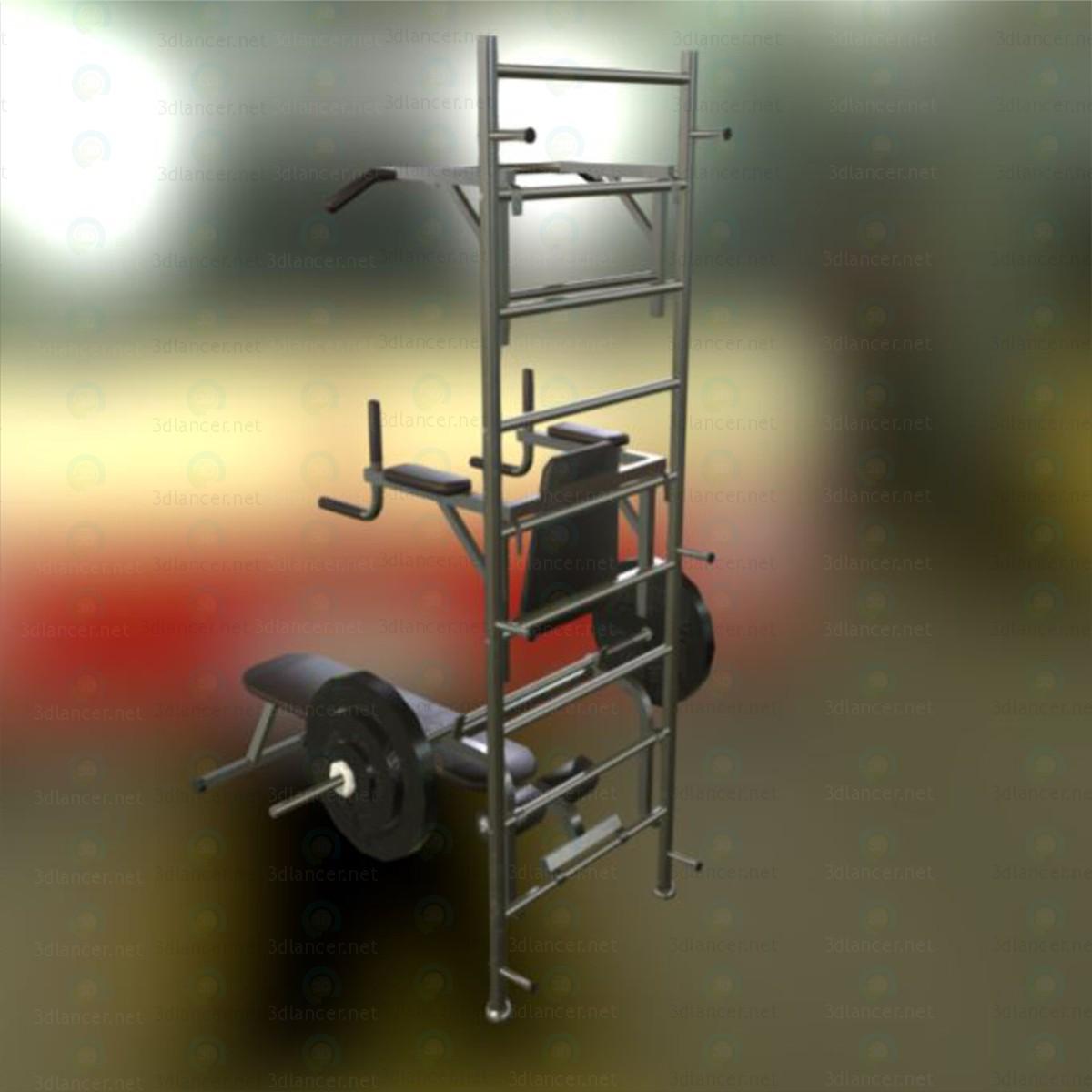 3d Тренажер для спортзала модель купить - ракурс