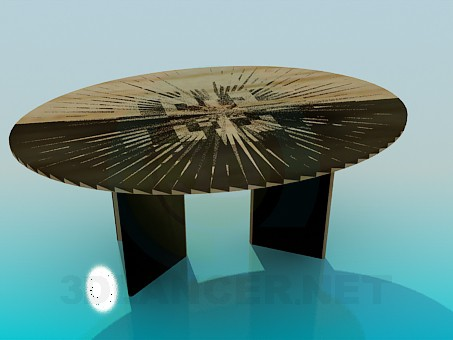 3d модель Овальный стол – превью