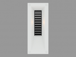 Recessed wall light LINK VERTICAL WITH GRID (S4687)