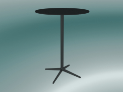 Table MISTER X (9507-71 (Ø80cm), H 108cm, noir, noir)
