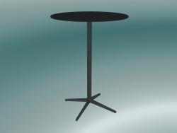 Tavolo MISTER X (9507-71 (Ø80cm), H 108cm, nero, nero)