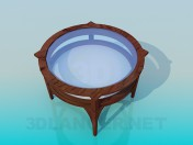 Round table with glass tabletop