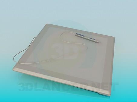 modelo 3D Bloc de dibujo electrónico - escuchar