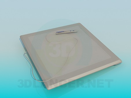 3d model Electronic drawing pad - preview