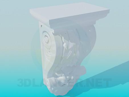 3d модель Элемент карниза – превью