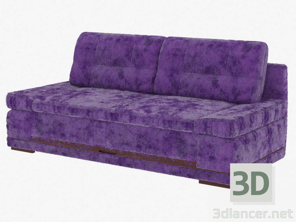 3d model double sofa bed manufacturer pushe id 19322 for Sofa bed 3d model